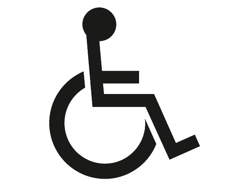 Ikona osoba niepełnosprawna na wóżku.